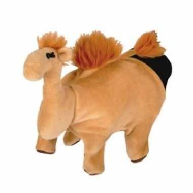 Pluche handpop kameel 22 cm