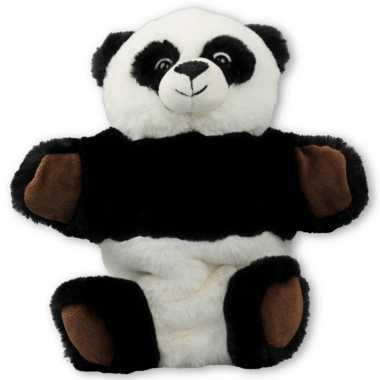 Pluche panda beer handpop knuffel 22 cm speelgoed